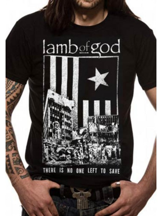 LAMB OF GOD T SHIRT Official Merchandise LAMB OF GOD - NO ONE LEFT TO SAVE (UNISEX) Black t-shirt