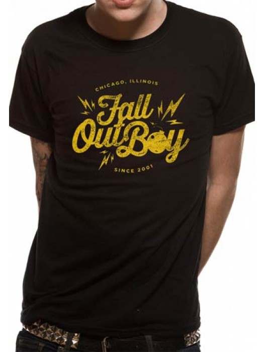 FALL OUT BOY T SHIRT Official Merchandise FALL OUT BOY - BOMB (UNISEX) Black t-shirt
