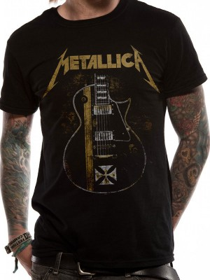 METALLICA T SHIRT Official Merchandise METALLICA - HETFIELD IRON CROSS (UNISEX) Black t-shirt