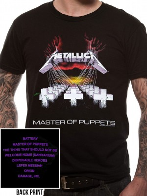 METALLICA T SHIRT Official Merchandise METALLICA - MASTER OF PUPPETS (UNISEX) Black t-shirt