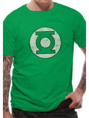 GREEN LANTERN T SHIRT Official Merchandise GREEN LANTERN - DISTRESSED LOGO (UNISEX) Green t-shirt