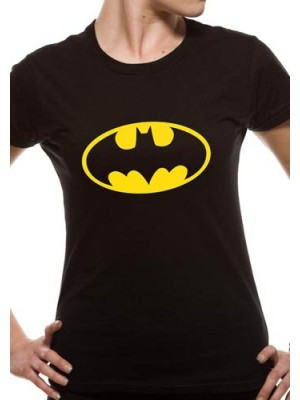 BATMAN T SHIRT Official Merchandise BATMAN - LOGO (FITTED) Black t-shirt