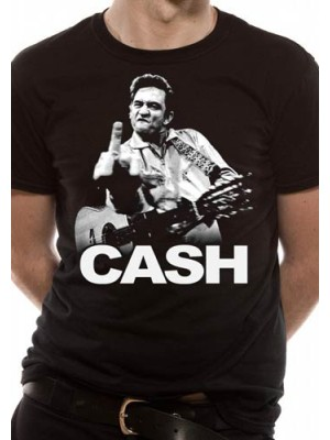 JOHNNY CASH T SHIRT Official Merchandise JOHNNY CASH - FINGER (UNISEX) Black t-shirt