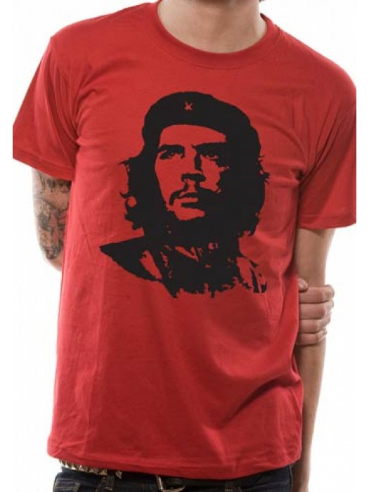 CHE GUEVARA  T SHIRT Official Merchandise CHE GUEVARA - RED FACE (UNISEX) Red t-shirt
