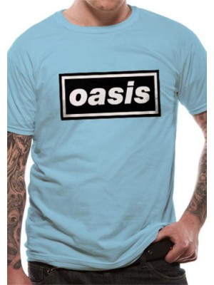 OASIS T SHIRT Official Merchandise OASIS - DEFINITELY MAYBE (UNISEX)  Light Blue t-shirt