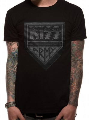 KISS T SHIRT Official Merchandise KISS - ARMY DISTRESSED (UNISEX) Black t-shirt