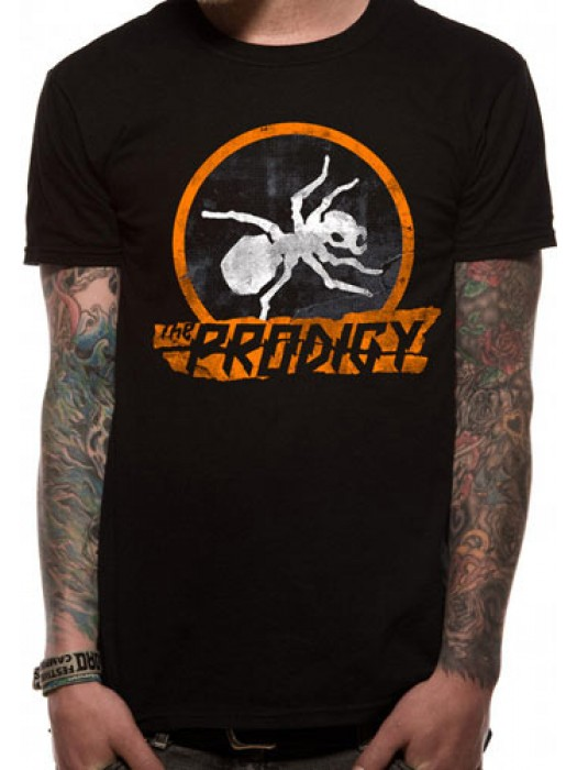THE PRODIGY T SHIRT Official Merchandise THE PRODIGY - ANT (UNISEX)  Black t-shirt