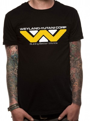 ALIEN T SHIRT Official Merchandise ALIEN - WEYLAND-YUTANI CORPORATION (UNISEX)ALIEN Black t-shirt