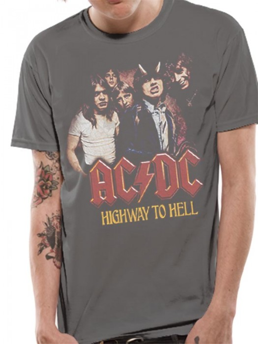 AC/DC T SHIRT Official Merchandise AC/DC - H2H PHOTO (UNISEX) Grey t-shirt