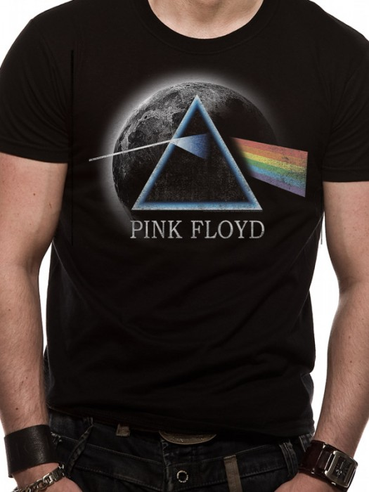 PINK FLOYD T SHIRT Official Merchandise PINK FLOYD - DARK SIDE MOON (UNISEX)  Black t-shirt