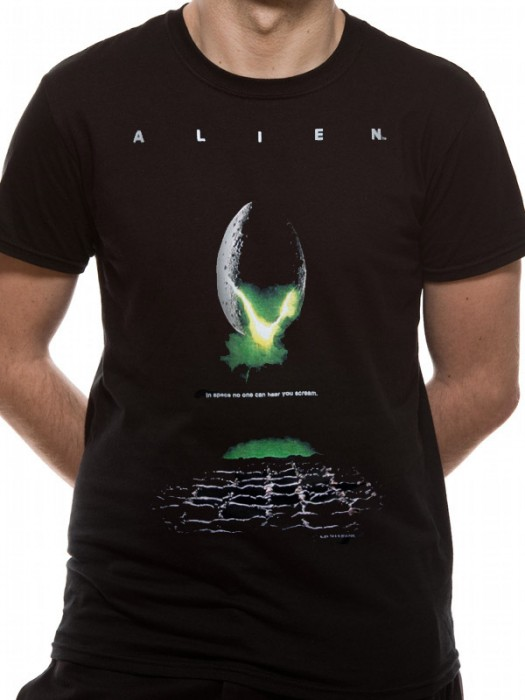 ALIEN T SHIRT Official Merchandise ALIEN - POSTER (UNISEX)! Black t-shirt