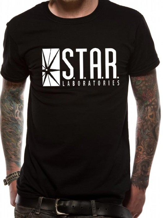 THE FLASH (TV) T SHIRT Official Merchandise THE FLASH (TV) - S.T.A.R. LABS (UNISEX) Black t-shirt