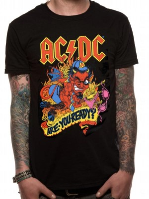 AC/DC T SHIRT Official Merchandise AC/DC - ARE YOU READY (UNISEX) Black t-shirt