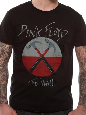 19875dca5f2 PINK FLOYD T SHIRT Official Merchandise PINK FLOYD - HAMMERS LOGO (UNISEX) Black  t