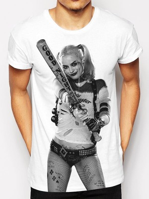 SUICIDE SQUAD T SHIRT Official Merchandise SUICIDE SQUAD - HARLEY PHOTO  White t-shirt