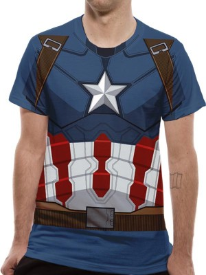 CIVIL WAR T SHIRT Official Merchandise CIVIL WAR - CAPTAIN AMERICA SUIT COSTUME Multi Colour t-shirt