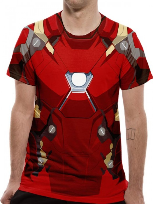 CIVIL WAR T SHIRT Official Merchandise CIVIL WAR - IRON MAN SUIT COSTUME ( Multi Colour t-shirt