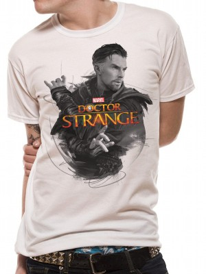 DR STRANGE (MOVIE) T SHIRT Official Merchandise DR STRANGE (MOVIE) - CHARACTER (UNISEX) White t-shirt