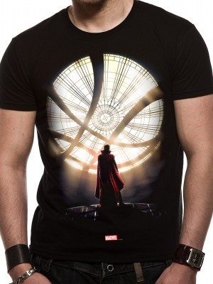 DR STRANGE (MOVIE) T SHIRT Official Merchandise DR STRANGE (MOVIE) - POSTER TWO (UNISEX) Black t-shirt