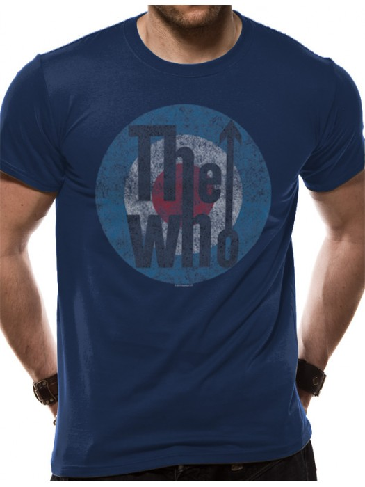 THE WHO  T SHIRT Official Merchandise THE WHO - TARGET (UNISEX) Blue t-shirt