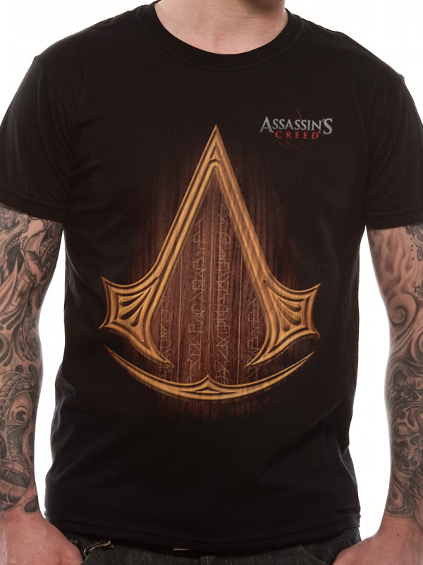 66714c68 ASSASSIN'S CREED MOVIE T SHIRT Official Merchandise ASSASSIN'S CREED MOVIE  - ICON LOGO (UNISEX) Black t-shirt