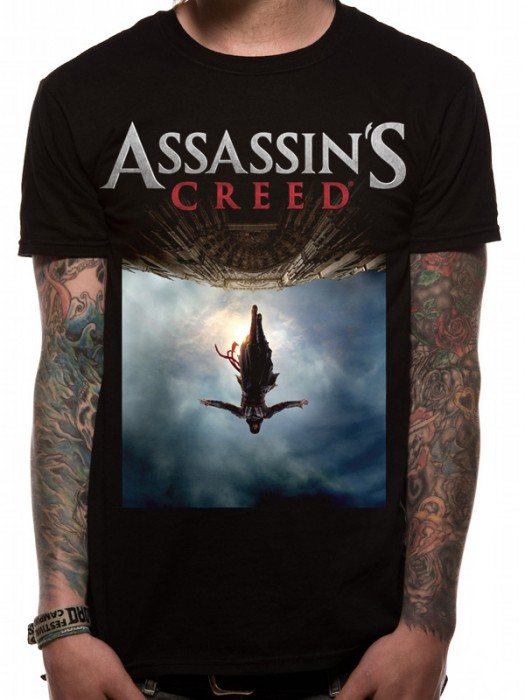 ASSASSIN'S CREED MOVIE T SHIRT Official Merchandise ASSASSIN'S CREED MOVIE - POSTER (UNISEX) Black t-shirt