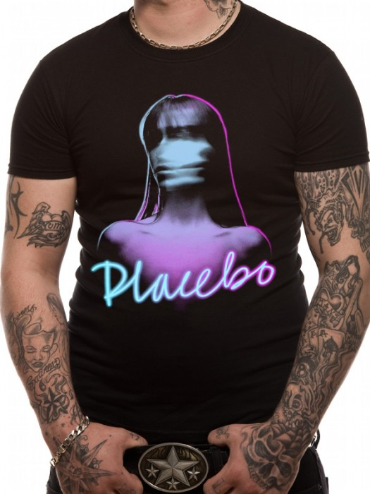 PLACEBO T SHIRT Official Merchandise PLACEBO - GHOST (UNISEX) Black t-shirt
