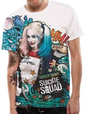 SUICIDE SQUAD T SHIRT Official Merchandise SUICIDE SQUAD - GRAFITTI (UNISEX SUBLIMATED T-SHIRT) Multi-Colour t-shirt