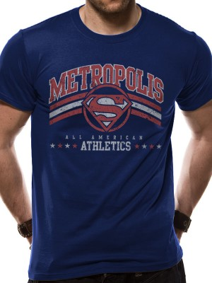 DC ORIGINALS T SHIRT Official Merchandise DC ORIGINALS - METROPOLIS ATHLETICS (UNISEX)   Blue t-shirt