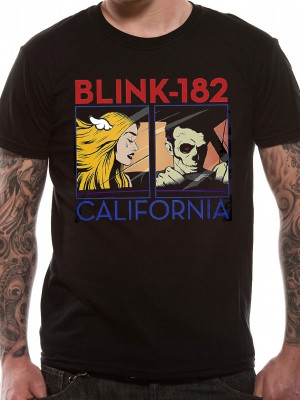 BLINK 182 T SHIRT Official Merchandise BLINK 182 - CALIFORNIA ALBUM (UNISEX Black t-shirt