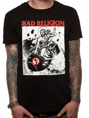 BAD RELIGION T SHIRT Official Merchandise BAD RELIGION - BOMB RIDER (UNISEX) Black t-shirt