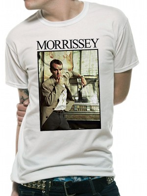 MORRISSEY T SHIRT Official Merchandise MORRISSEY - JUKEBOX (UNISEX) White t-shirt