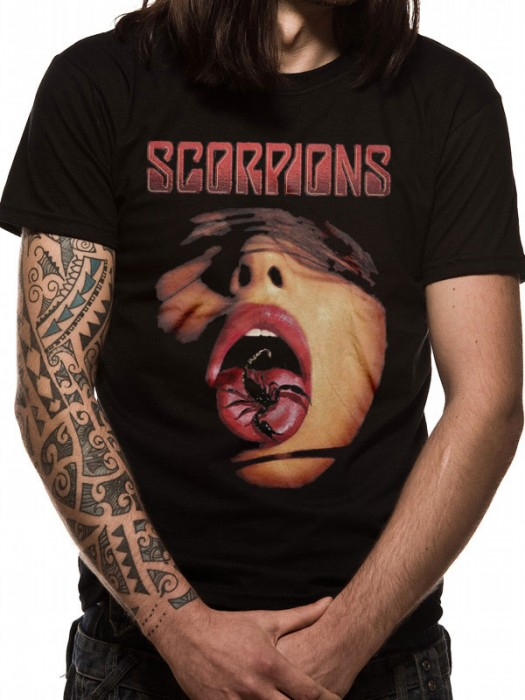 SCORPIONS T SHIRT Official Merchandise SCORPIONS - TONGUE (UNISEX) Black t-shirt