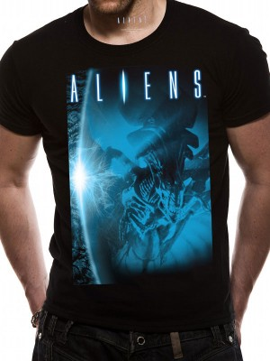 ALIEN T SHIRT Official Merchandise ALIEN - BLUE (UNISX)   Black t-shirt