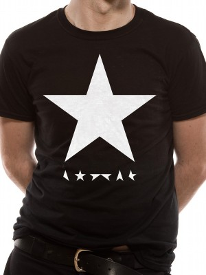DAVID BOWIE T SHIRT Official Merchandise DAVID BOWIE - BLACKSTAR (UNISEX)   Black t-shirt