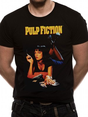 PULP FICTION T SHIRT Official Merchandise PULP FICTION - UMA (UNISEX)  Black t-shirt