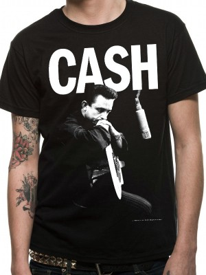 JOHNNY CASH T SHIRT Official Merchandise JOHNNY CASH - STUDIO (UNISEX)  Black t-shirt