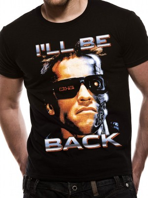 TERMINATOR T SHIRT Official Merchandise TERMINATOR - I'LL BE BACK (UNISEX)  Black t-shirt