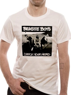 BEASTIE BOYS T SHIRT Official Merchandise BEASTIE BOYS - CHECK YOUR HEAD (UNISEX) White t-shirt