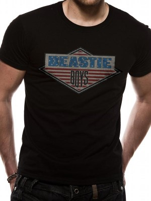 BEASTIE BOYS T SHIRT Official Merchandise BEASTIE BOYS - DIAMOND (UNISEX) Black t-shirt