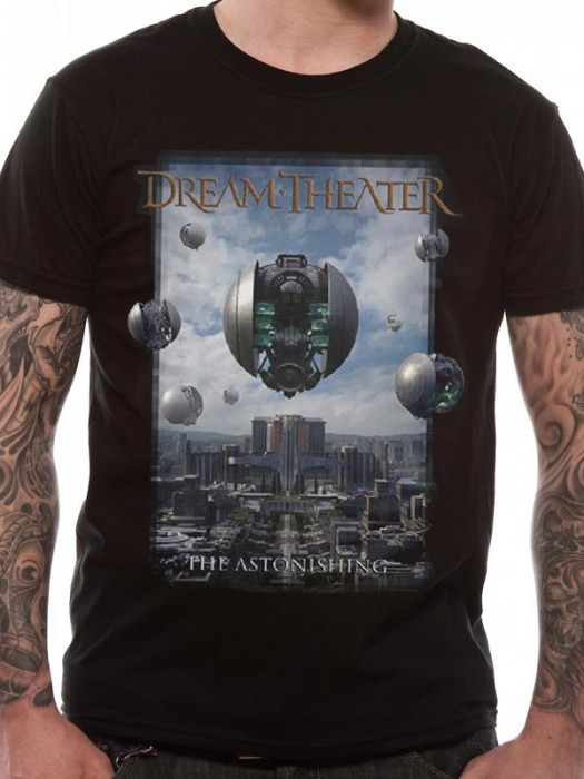 DREAM THEATRE T SHIRT Official Merchandise DREAM THEATRE - THE ASTONISHING (UNISEX) Black t-shirt