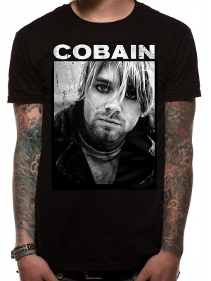 KURT COBAIN T SHIRT Official Merchandise KURT COBAIN - SHADOW (UNISEX) Black t-shirt