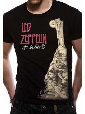 LED ZEPPELIN T SHIRT Official Merchandise LED ZEPPELIN - HERMIT (UNISEX) Black t-shirt