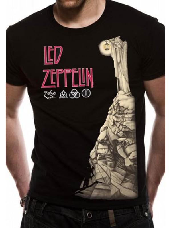 led zeppelin t shirt official merchandise led zeppelin hermit unisex black t shirt. Black Bedroom Furniture Sets. Home Design Ideas
