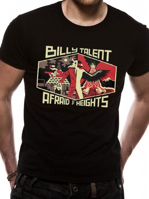 BILLY TALENT T SHIRT Official Merchandise BILLY TALENT - AFRAID OF HEIGHTS (UNISEX)  Black t-shirt