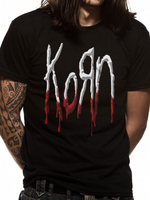 KORN T SHIRT Official Merchandise KORN - DRIPPING LOGO (UNISEX)   Black t-shirt