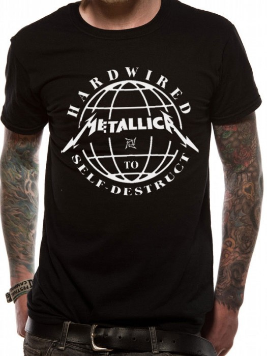 METALLICA T SHIRT Official Merchandise METALLICA - DOMINATION (UNISEX) Black t-shirt