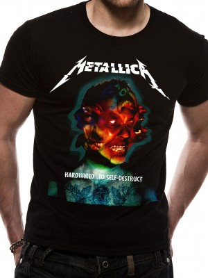METALLICA T SHIRT Official Merchandise METALLICA - HARDWIRED ALBUM COVER (UNISEX) Black t-shirt