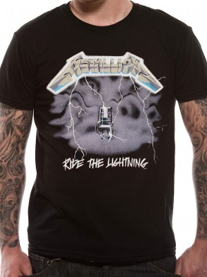 METALLICA T SHIRT Official Merchandise METALLICA - RIDE THE LIGHTENING (UNISEX) Black t-shirt