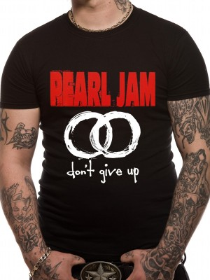 PEARL JAM T SHIRT Official Merchandise PEARL JAM - NEVER GIVE UP (UNISEX)   Black t-shirt